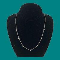 14K Italian White Gold Chain Milor Necklace