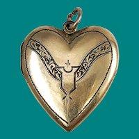 Victorian Heart Locket Gold Filled