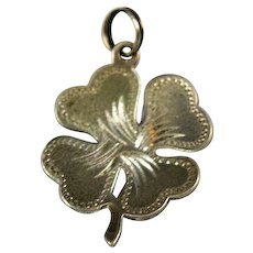Four Leaf Clover Lucky Sterling Theda Charm 1940's Shamrock