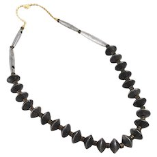 African Metal Trade Bead Necklace