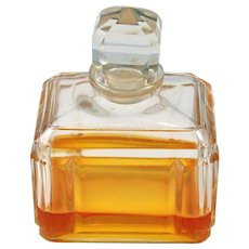 Baccarat Crystal Perfume Bottle France Rectangular