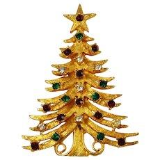 MYLU Rhinestone Christmas Tree Brooch