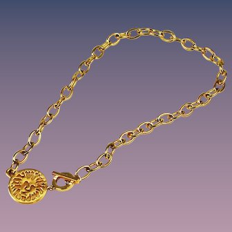 Ann Klein Lion Logo Necklace Vintage