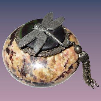 Jo Marz -  Dragonfly - Trinket Box - Soap Stone First Edition