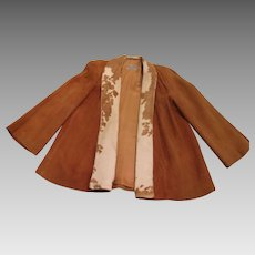 Vintage - Pioneer Wear Women's Suede Leather Jacket - Cow Hair Accent
