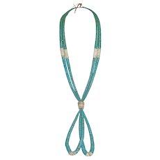 Vintage Jacla - Santo Domingo Turquoise Necklace - Native American