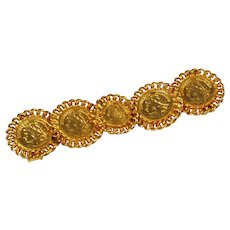 Mimi Di N Gold French Coin Belt Buckle