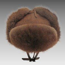 Natural Mink - Men's Fur Trapper - Trooper Hat