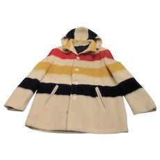 Vintage Hudson Bay Striped Blanket - Coat Women's