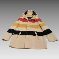 Vintage Hudson Bay Striped Blanket - Coat Women's - Four Point