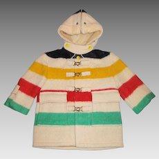 Children's Hudson Bay Four Point Blanket - Coat -Rare 1950's