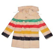 1950's Men's Hudson Bay - Four Point Blanket Coat