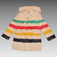 1950's Men's Hudson Bay - Four Point Blanket Coat - Large - 44