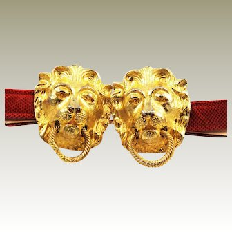 Mimi Di N Lion Buckle & Red Belt Designer 1974