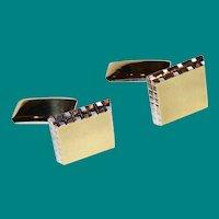 Art Deco - David Andersen -Solid Sterling Silver & Gold Vermeil Cufflinks - 19.4 Grams - Non Monogrammed