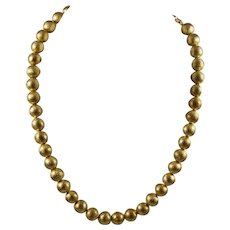 Whiting & Davis Gold Plated Beaded Necklace