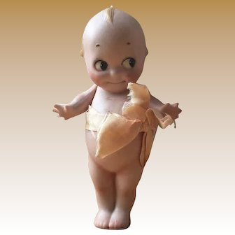 "6"" Original Rose O'Neill Kewpie bisque doll in perfect condition"