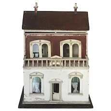 Antique English Doll House dollhouse doll's house ca. 1910 G. & J. Lines