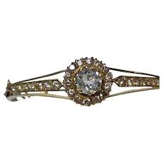 Antique Victorian Aquamarine Diamond Bangle Bracelet