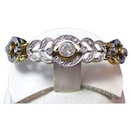Art Deco 1920's Diamond Wedding Day Anniversary Birthstone Bracelet 14K