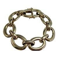 Vintage Estate Oval Link 7.5 Inch Bracelet 14K