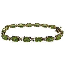Vintage 1960's Natural Peridot Bracelet