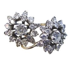 Vintage Estate 1950's Wedding Day Diamond Drop Earrings 14K Platinum