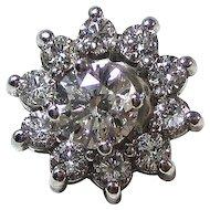 Natural Diamond Stud 1.72 Carat Estate Wedding Birthstone Anniversary Jacket Earrings 14K