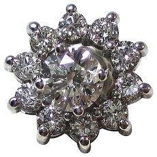 Estate 1.72 Carat Diamond Stud Jackets Estate Wedding Anniversary Earrings 14K