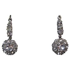 Art Deco Vintage Wedding Day Birthstone Anniversary 1930's Diamond Paste Earrings
