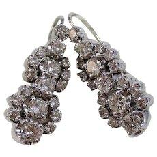 Wedding Day Anniversary Birthstone 1950's Estate Diamond Earrings 14K
