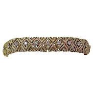 Estate 1970's Wedding Day Anniversary Diamond Bracelet 18K