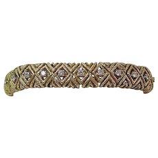 Estate 1970's Wedding Day Diamond Bracelet 18K