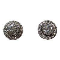 Vintage Estate Diamond Stud & Jacket Earrings 18K