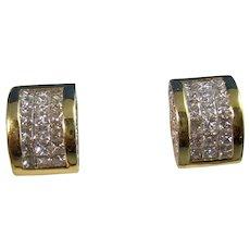 Vintage Estate 1.08 Carat Diamond Earrings 18K