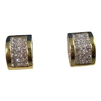 Vintage Estate Diamond Wedding Day Stud Earrings 18K