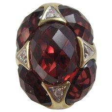 Vintage Estate Garnet & Diamond Birthstone Wedding Day Earrings 18K
