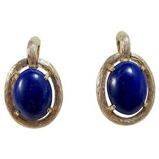 Huge Vintage 1960's Anniversary Birthstone Wedding Day Natural Lapis Lazulis 14K