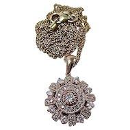 Wedding Day Birthstone  Diamond Necklace 14K
