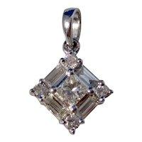Vintage Estate Diamond Wedding Day Pendant 14K