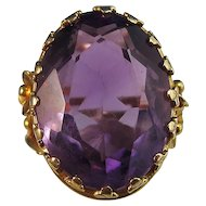Antique Victorian 1890's Amethyst Birthstone Anniversary Ring 18K Yellow Gold