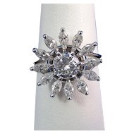 Jabel Diamond Estate Engagement Wedding Birthstone Ring 18K