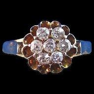 Antique Victorian 1890's English Engagement Wedding Birthstone Diamond Ring