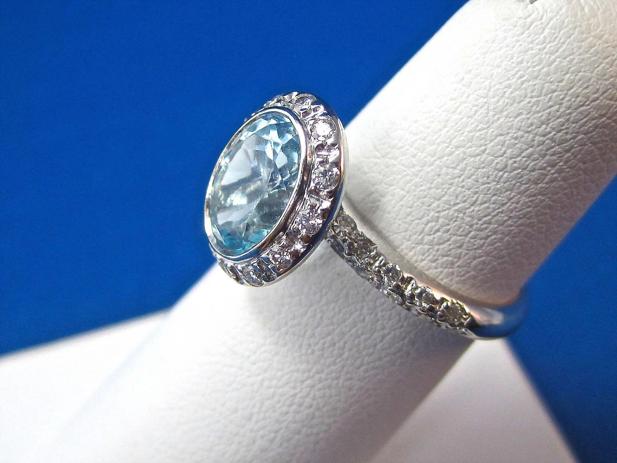 rings green the elegant natural aquamarine engagement