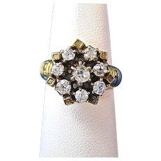 Antique Victorian 1890's Diamond Engagement Wedding Day Birthstone  Ring 14K