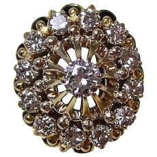 Huge 1940's Estate Large Wedding Engagement Anniversary Birthstone Diamond Ring 14K
