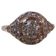 Art Deco Diamond Estate Engagement Wedding Anniversary Birthstone Ring 14K