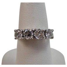 Diamond Estate Wedding Day Anniversary Birthstone Ring Platinum