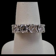 Diamond Wedding Day Anniversary Birthstone Ring Platinum