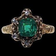 Antique Victorian 1890's Garnet Engagement Wedding Day Birthstone Ring